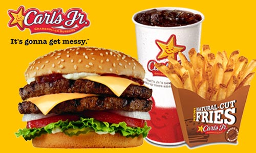 50% off Carls Jr. Cash Voucher