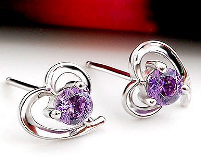 Crystal Love Heart Earrings