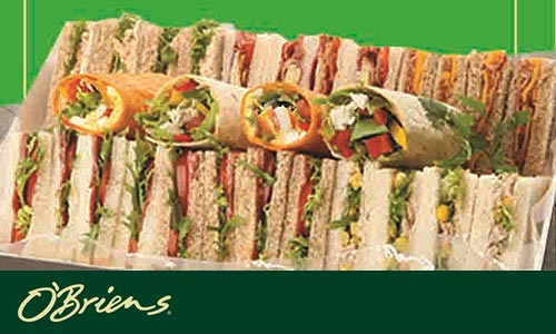 50% OFF OBriens Irish Sandwich Cafe Cash Vouchers