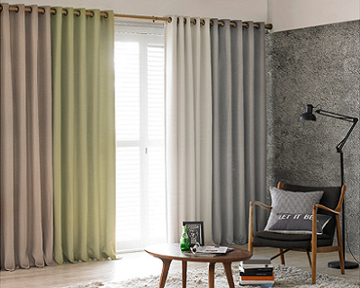 Modern Natural Blackout Eyelet Curtain + Delivery