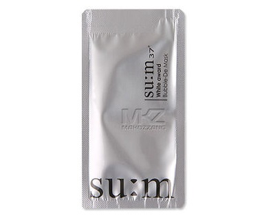 Su:m 37 White Award Bubble De Mask
