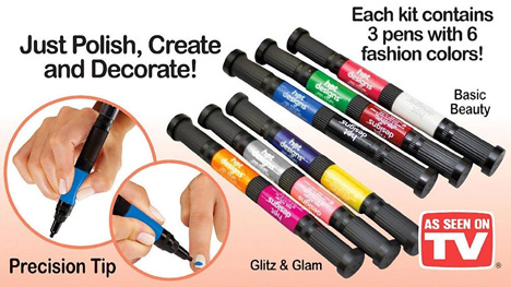 The hot design nail art pens chocoprice 3 x hot design pens each with 2 colours per pen prinsesfo Image collections