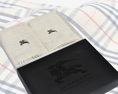 Burberry Cotton Towels (Set of 2)
