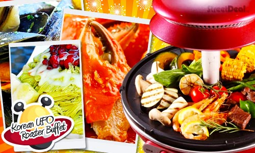 47% off Korea UFO BBQ + Ginseng Steamboat Buffet w/ Free-flow Sand Lobster & Chili Crab+Snow Ice or QQ Beancurd Pudding!