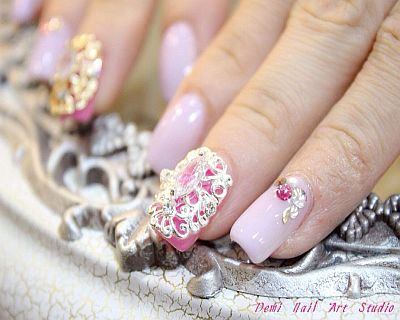 $58 for Gel Extension With 4 Crystals + Return Trim (worth $120) by Demi Na...