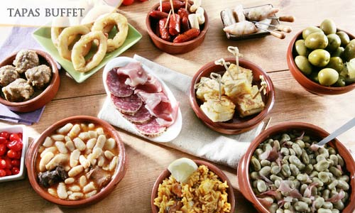 OPTION 1 : 63% OFF for All-You-Can-Eat Tapas Buffet Deals for only S$22.5 instead of S$60