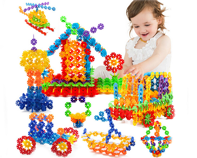 550pcs Kids Snowflake Building Blocks Toy