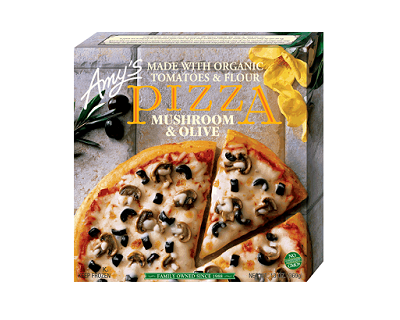 3 Amys Kitchen Mushroom and Olive Pizzas