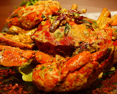 1 Crab Dish with 9 Available Choice