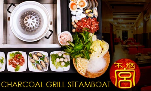 25% off KOREAN THAI Charcoal Grill Steamboat & BBQ @ Smokeless Palace!