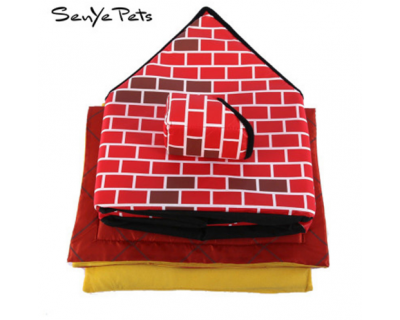 2018 Dog Removable Red Brick House