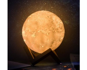 Touch Control LED 3D Moon Lamp